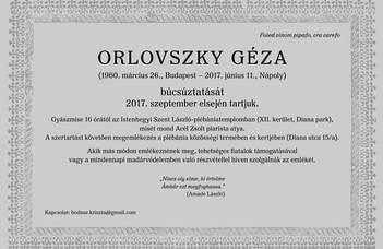 Orlovszky Géza búcsúztatása