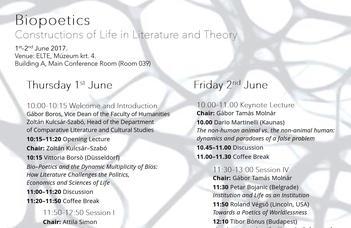 Nemzetközi konferencia az ELTE BTK-n június 1-jén és 2-án