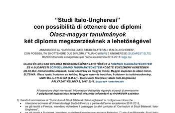 Olasz-magyar tanulmányok két diploma megszerzésének a lehetőségével