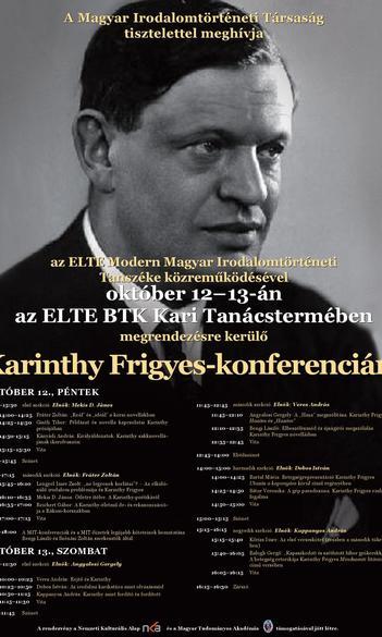Karinthy Frigyes-konferencia október 12–13-án